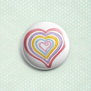 """Mother's Heart"" Button Pin"