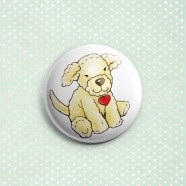 """Toy Milly"" Button Pin"