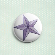 """Purple Star"" Button Pin"